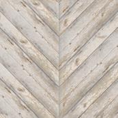 Whitewashed Herringbone Planks