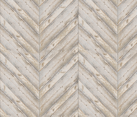 Whitewashed Herringbone Planks fabric by willowlanetextiles on Spoonflower - custom fabric