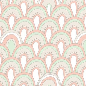 Wedding Palette Art Deco Scallop Dot