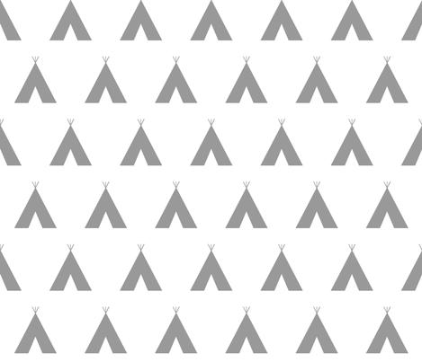 teepee // grey fabric by buckwoodsdesignco on Spoonflower - custom fabric