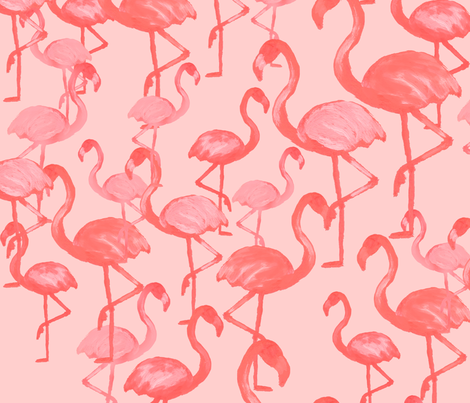 Light Flamingo by The Prime Floridian fabric by theprimefloridian on Spoonflower - custom fabric