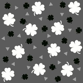 Monochrome geometric shamrock for st patricks day