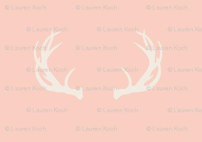 cream antlers on peach