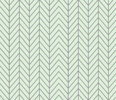 herringbone // cucumber & grey fabric by buckwoodsdesignco on Spoonflower - custom fabric