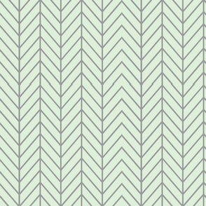 herringbone // cucumber & grey