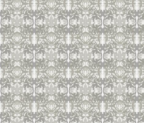 StacyCK Studio - Grey & White Scrollwork - Design repeat fabric by stacyck on Spoonflower - custom fabric