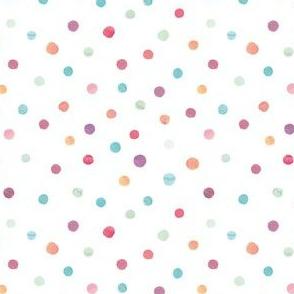 Aquarel confetti dots
