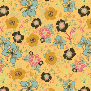 DitsyFlowers, yellow
