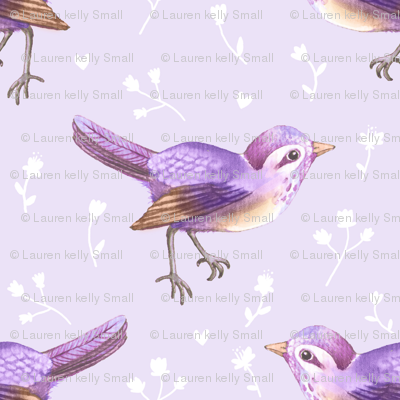 SongBird Purple Lilac Floral
