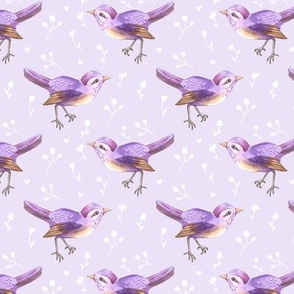 SongBird Purple Lilac Floral