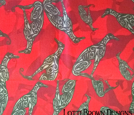 Greyhound Camo Bold Red