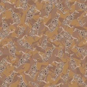 Greyhound Camo Golden Brown
