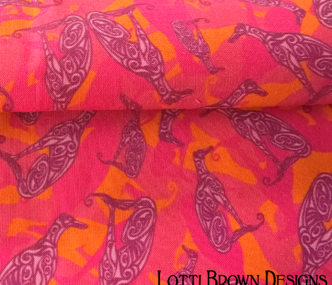 Greyhound Camo Hot Pink
