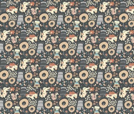 Animal Kingdom fabric by limegreenpalace on Spoonflower - custom fabric