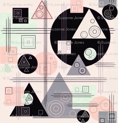 Retro Geometrics Kandinsky Style