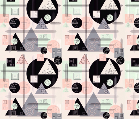 Retro Geometrics Kandinsky Style fabric by heckadoodledo on Spoonflower - custom fabric
