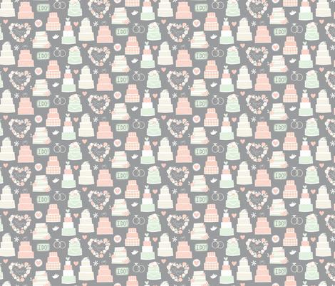Wedding Day Bliss fabric by lisa_kubenez on Spoonflower - custom fabric