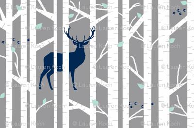 walk in the woods // indigo & grey