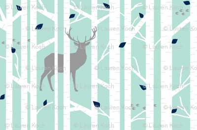 walk in the woods // mint & grey