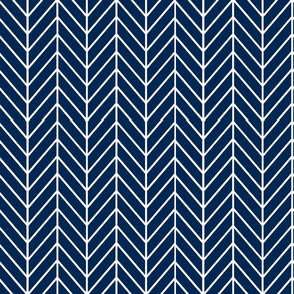 feather arrows // indigo