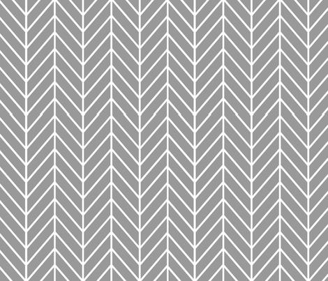 feather arrows // grey fabric by buckwoodsdesignco on Spoonflower - custom fabric