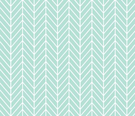 feather arrows // mint fabric by buckwoodsdesignco on Spoonflower - custom fabric
