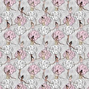 Pink & White Ballerinas
