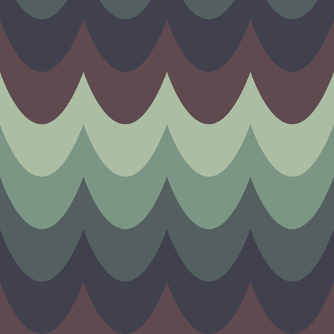 Moody Scallops fabric by anniecdesigns on Spoonflower - custom fabric