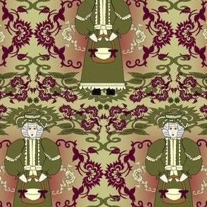 Grandma Aurora May Victorian Lady, Flowers & Basket Fabric #2