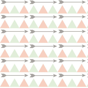 Mint and Pink Arrows