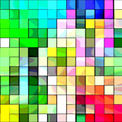 Watercolor Pixels by Teagan