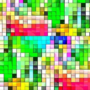 Watercolor Pixels by Teagan