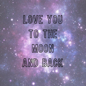 Love you to the moon and back - pillow