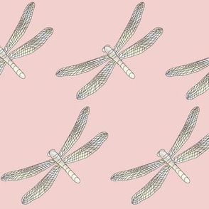 rose quartz large dragonfly