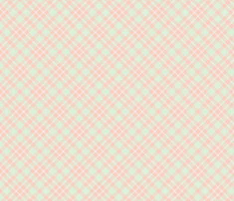 Cream, Cucumber, and Peach Tartan fabric by themadcraftduckie on Spoonflower - custom fabric