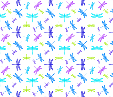 Dancing Dragonflies Summer fabric by bags29 on Spoonflower - custom fabric