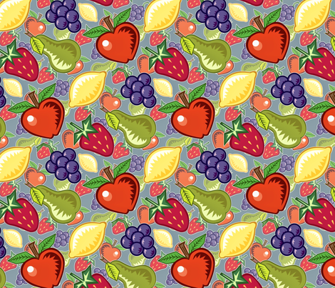 Antiqued fruit fabric by hannafate on Spoonflower - custom fabric