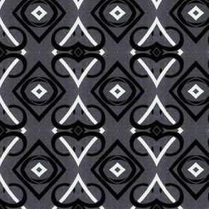 Black and Grey Diamond Abstract