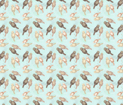 Otters fabric by artistic_visual_designer on Spoonflower - custom fabric