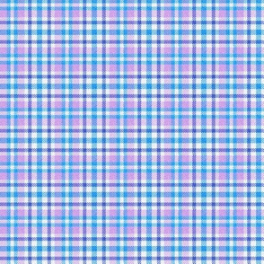 Blue and Purple Plaid