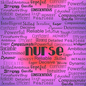 Nurse Adjectives Purple