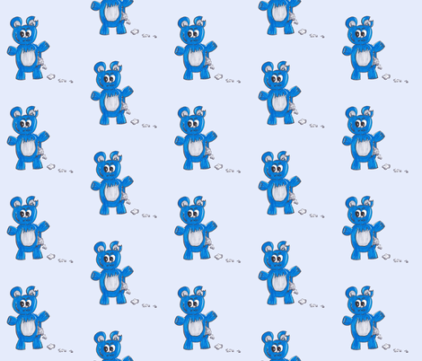 Suspec-Ted - Blue fabric by 1stmoon on Spoonflower - custom fabric