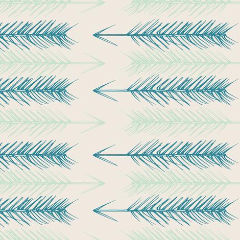 Arrowheads, cream fabric by michellegracedesign on Spoonflower - custom fabric