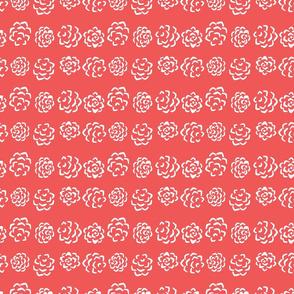 Pine Flowerheads, red