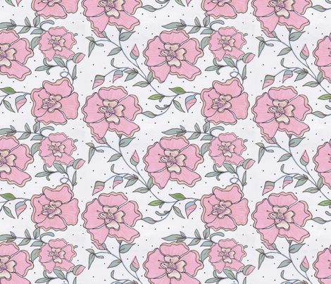 peach_flowers fabric by frutejuce on Spoonflower - custom fabric