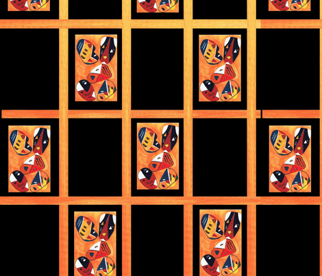 mask checkers pattern  fabric by _lilmarkets on Spoonflower - custom fabric