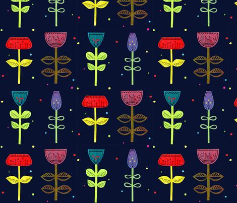 Cutout Flower 3 fabric by brokkoletti on Spoonflower - custom fabric