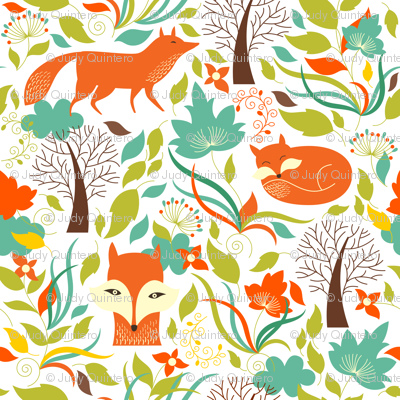 Fox In The Woods / White