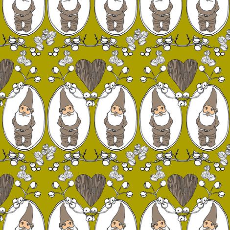 Gnome Love fabric by sparegus on Spoonflower - custom fabric