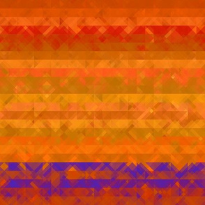 Bright Orange Textured Stripe